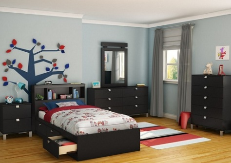 black bedroom furniture for kids photo - 2
