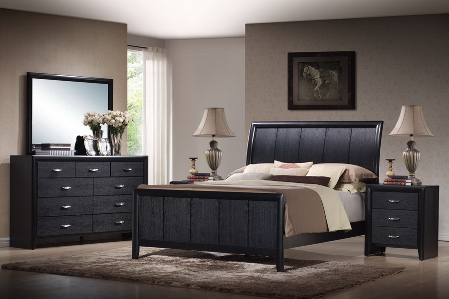 black bedroom furniture queen photo - 1