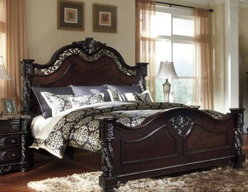 black bedroom furniture queen photo - 2