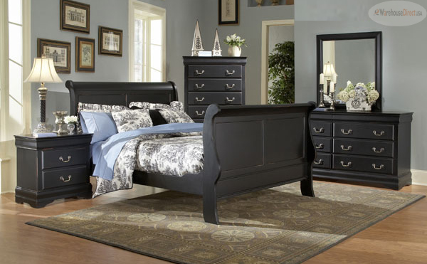black bedroom furniture queen photo - 4