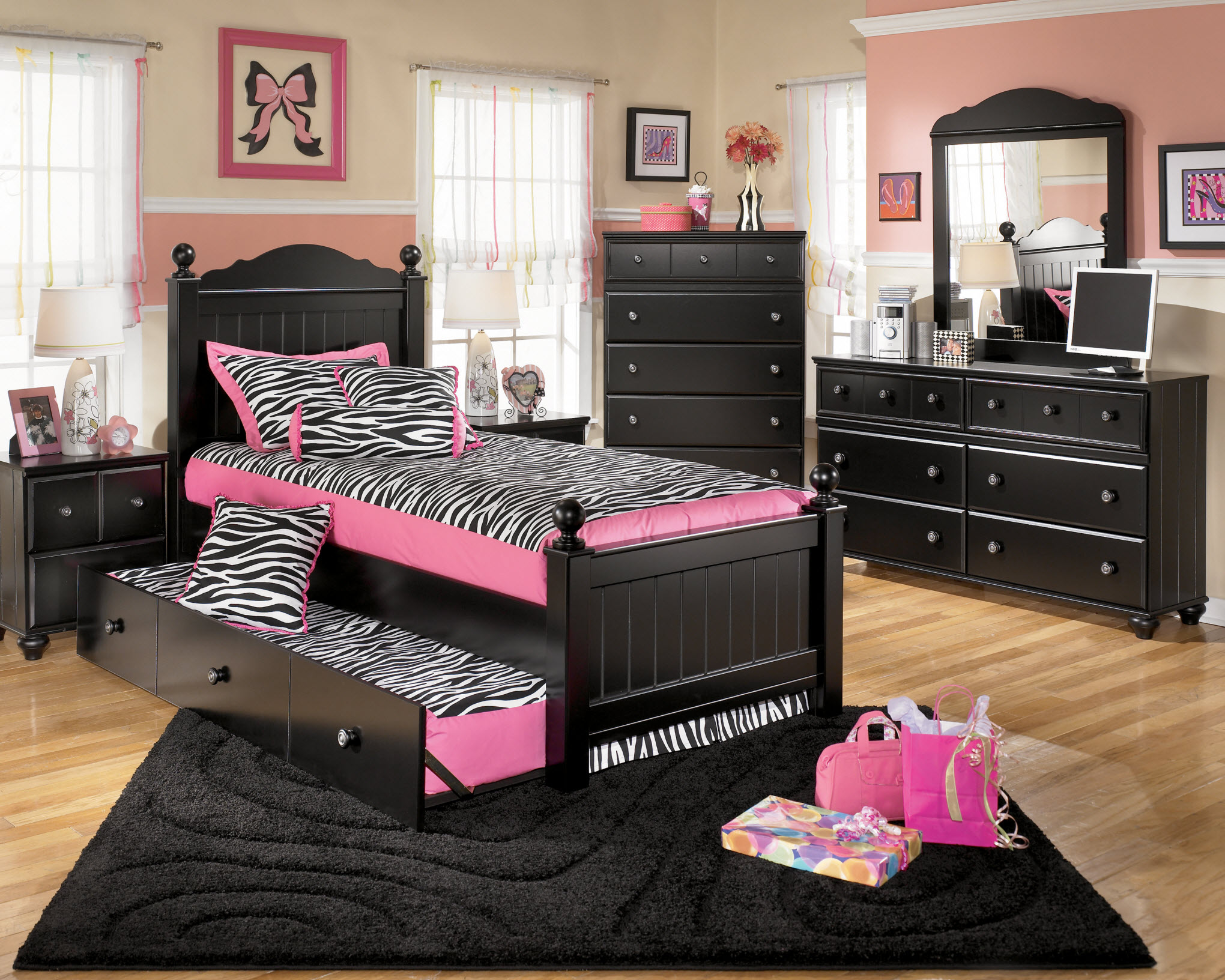 black bedroom furniture sets girls