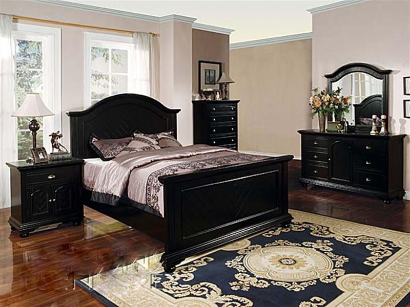 black bedroom furniture sets king photo - 1