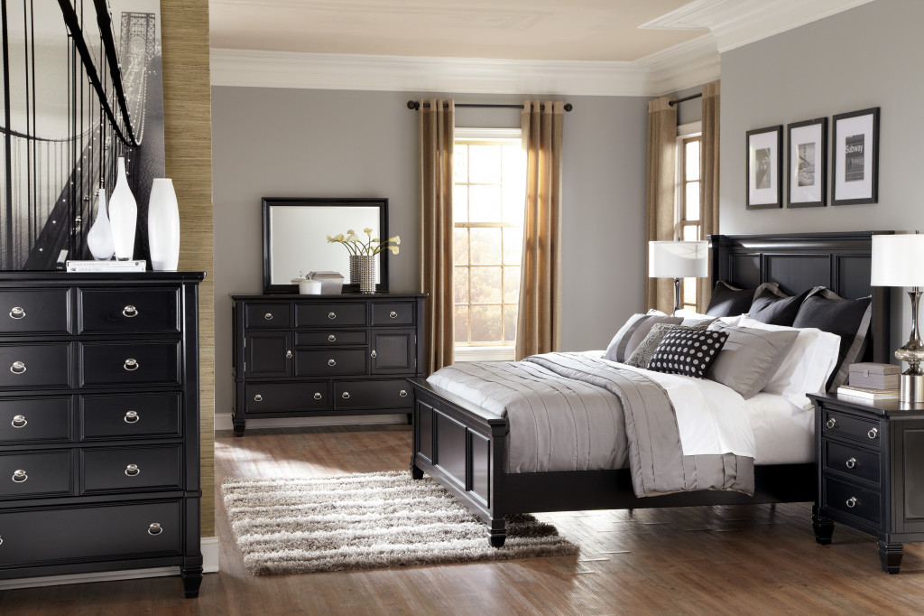 black bedroom furniture sets king photo - 2