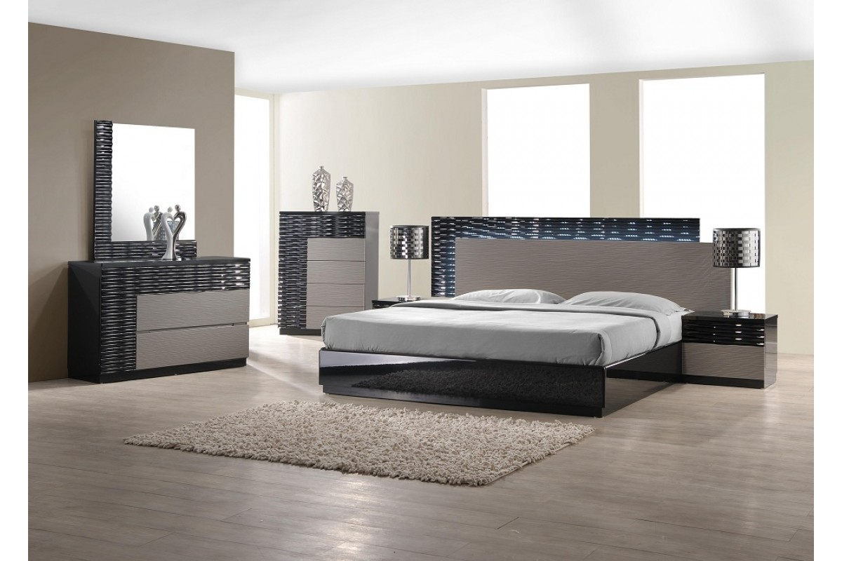 black bedroom furniture sets king photo - 4