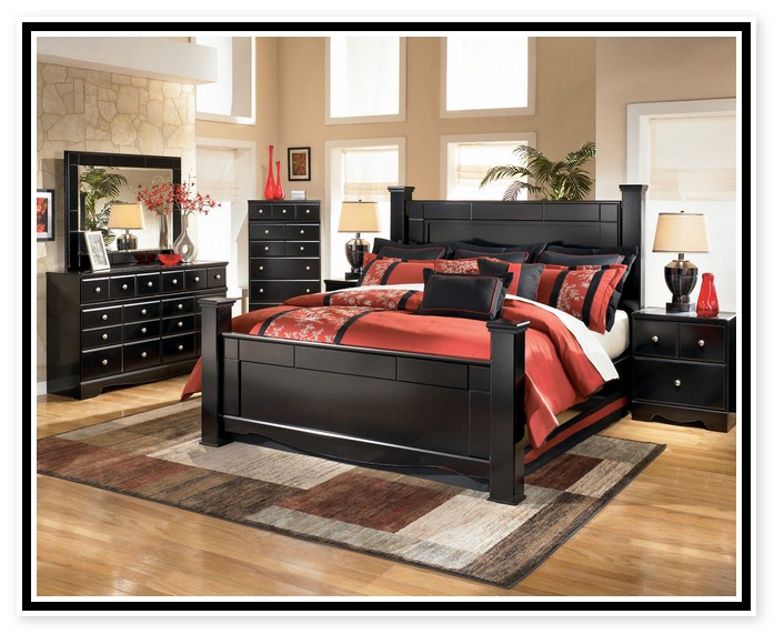 black bedroom furniture sets king photo - 5