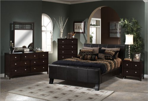 Black Brown Bedroom Furniture Photo   3