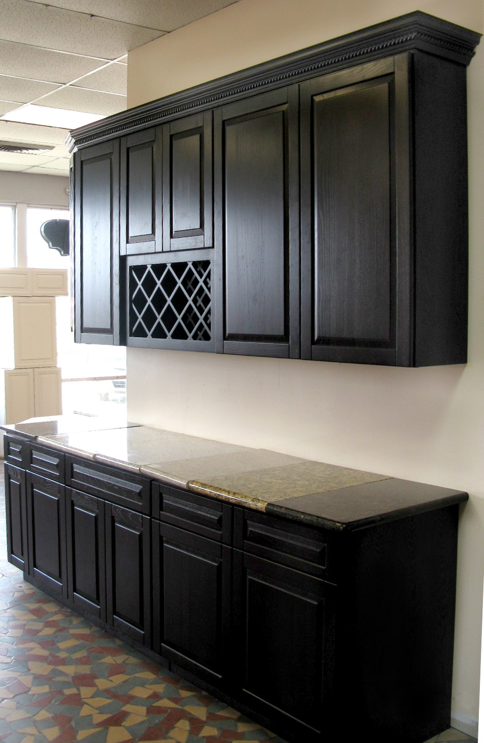 black cabinets for kitchen photo - 3