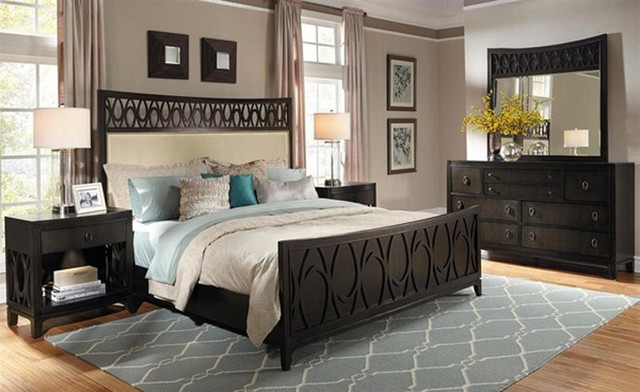black california king bedroom furniture sets photo - 6