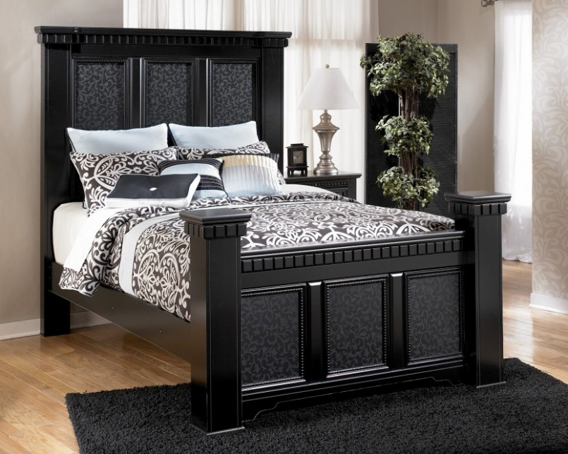 black elegant bedroom furniture photo - 2