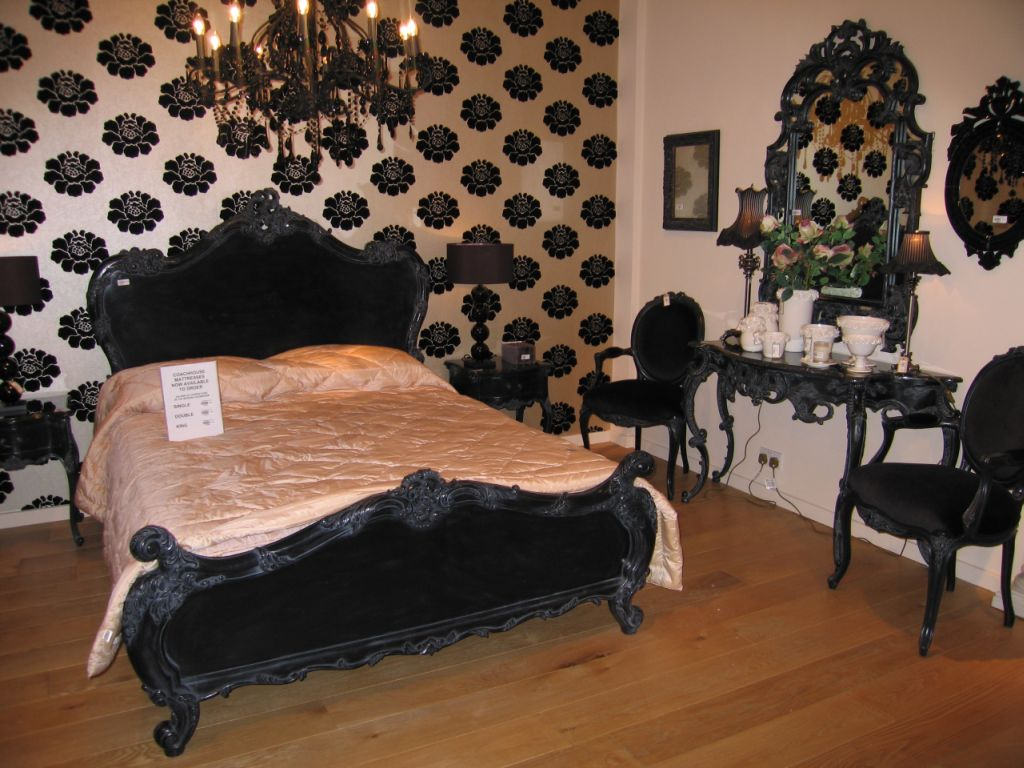 black elegant bedroom furniture photo - 3