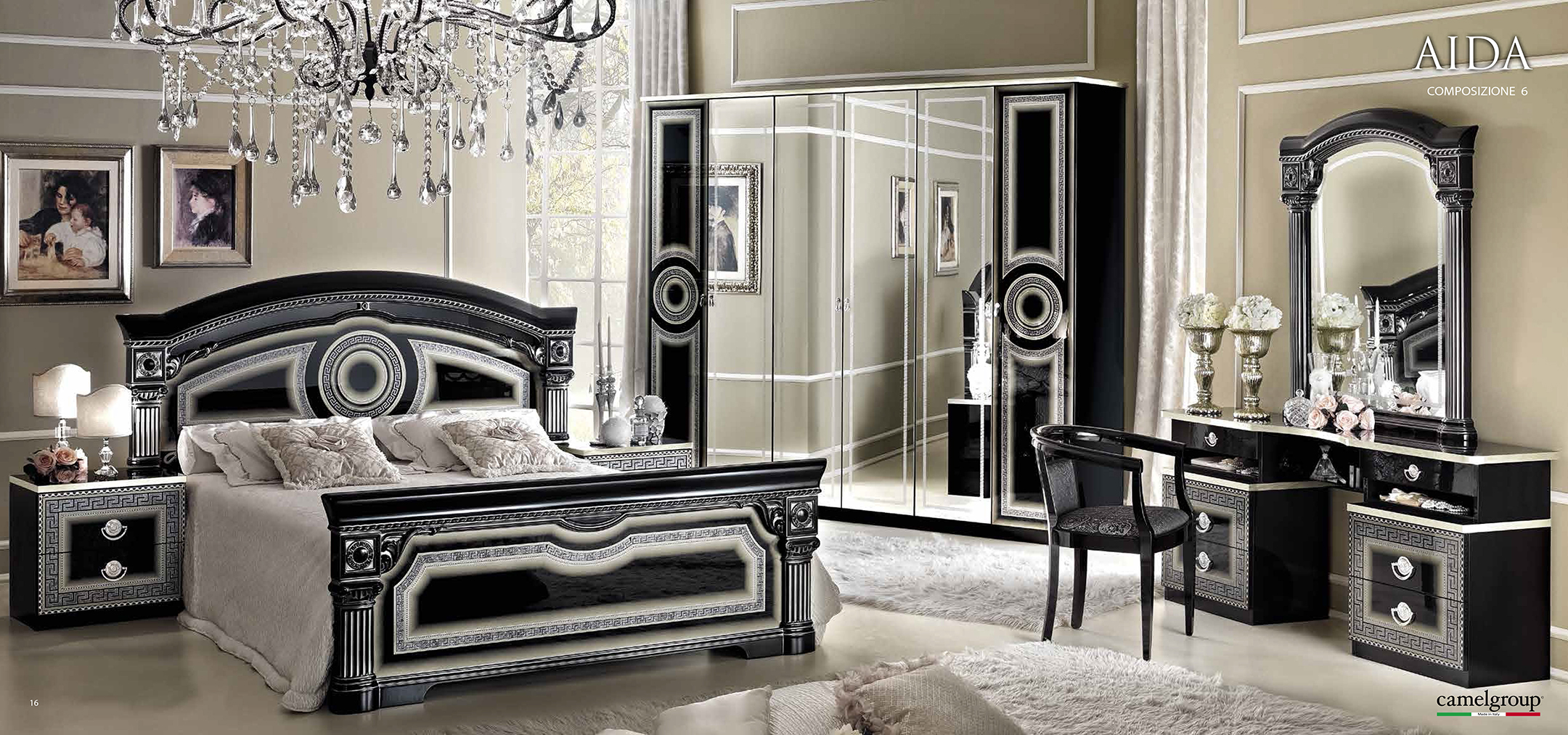 black elegant bedroom furniture photo - 5