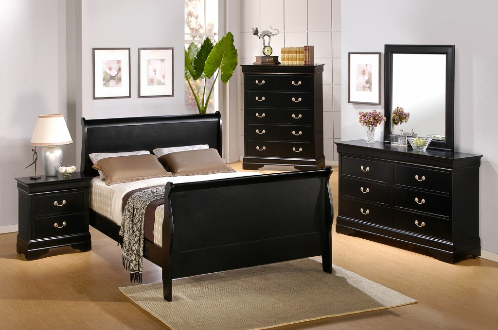 black elegant bedroom furniture photo - 6