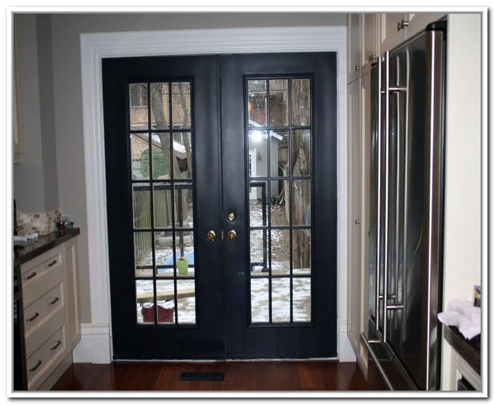 black french doors exterior