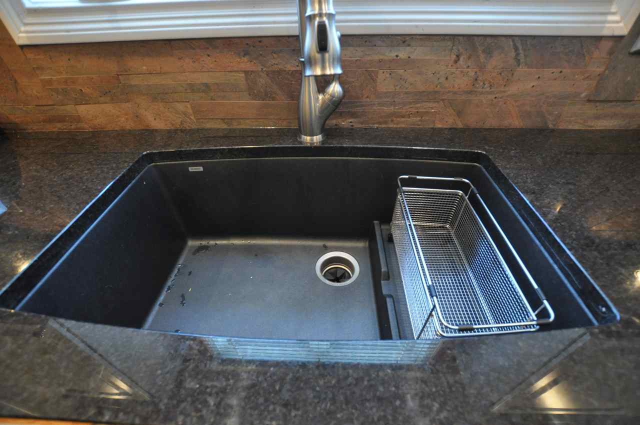 black granite composite sink care photo - 1