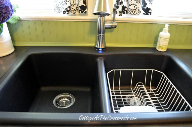 black granite composite sink care photo - 4