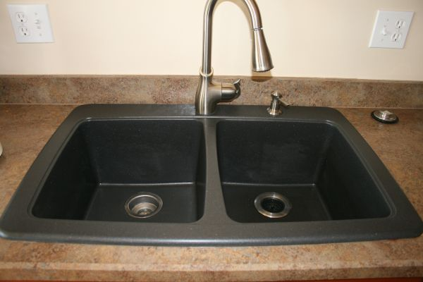 Black Granite Composite Sink Cleaning Photo   5