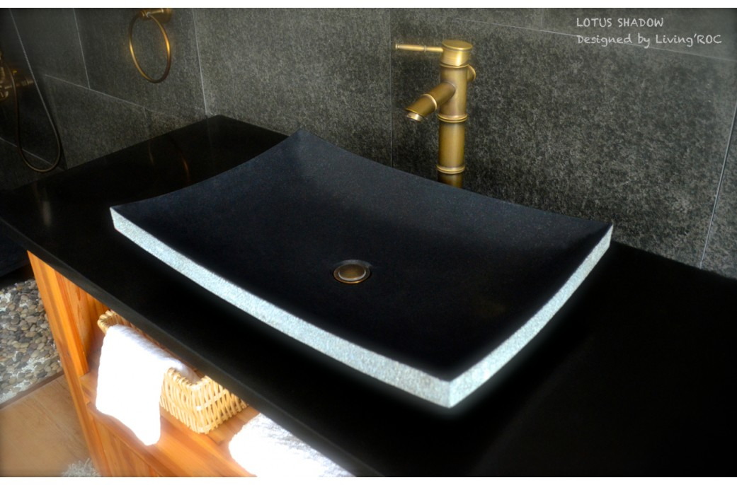 black granite sink photo - 3