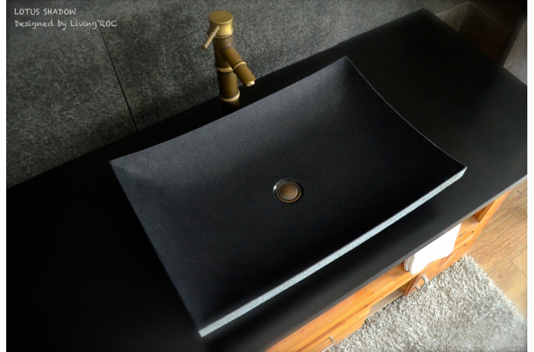 black granite sink photo - 6
