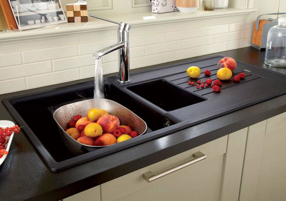 black granite sink cleaner photo - 6