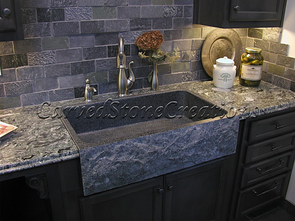 Black Granite Sinks Kitchens Photo 3. Nice Ideas
