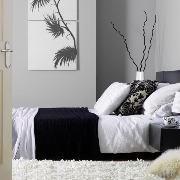 black grey bedroom decorating ideas photo - 4
