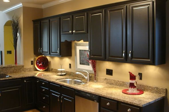 black kitchen cabinets photo - 4