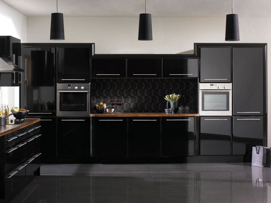 black kitchen cabinets photo - 5