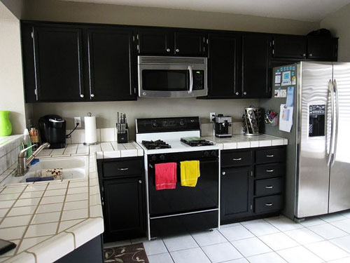 Kitchen Cabinets Black small kitchen with black cabinets – cabinet image idea – just