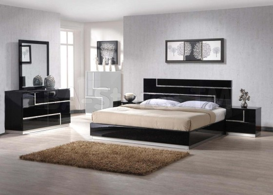 black lacquer bedroom furniture sets photo - 4