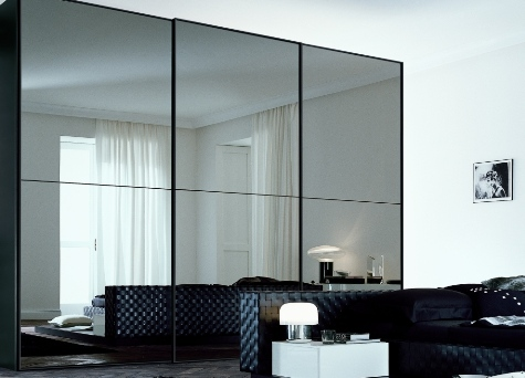 black mirrored bedroom furniture photo - 3