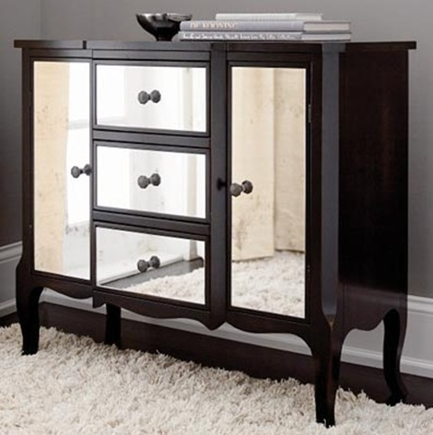 black mirrored bedroom furniture photo - 4