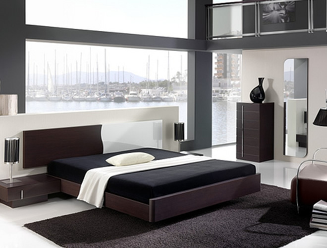 black mirrored glass bedroom furniture - make your home