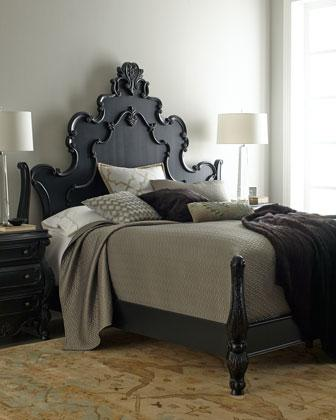 Black Ornate Bedroom Furniture Photo   2