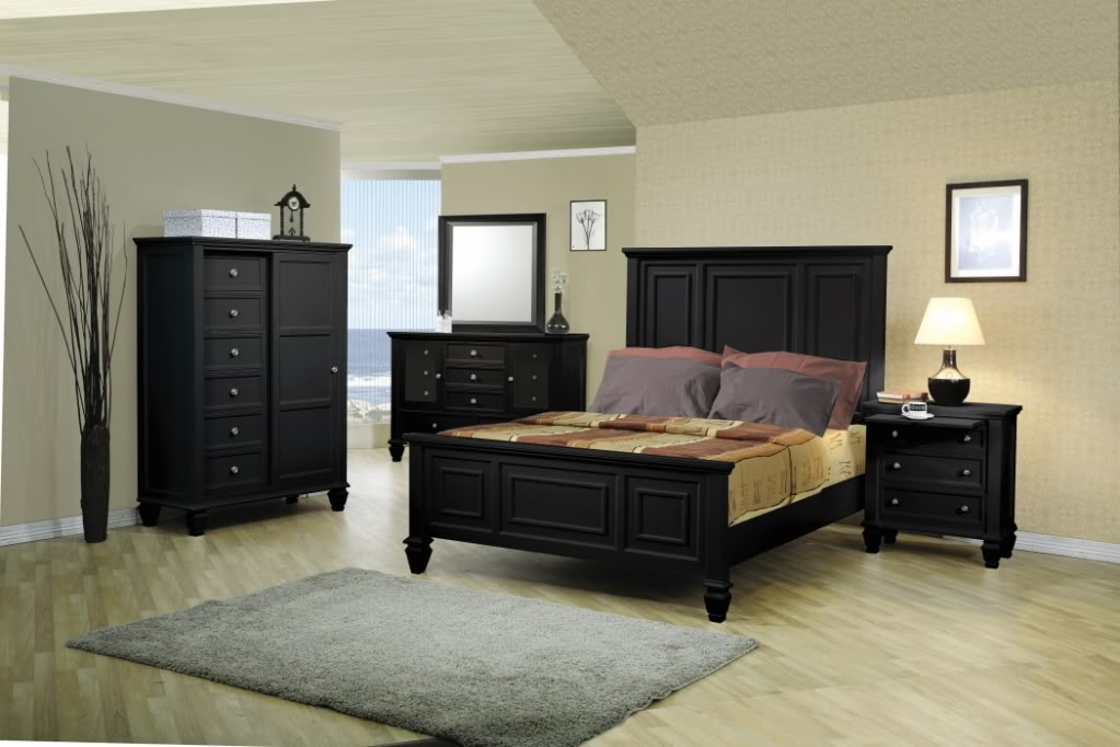 black oversized bedroom furniture photo - 3