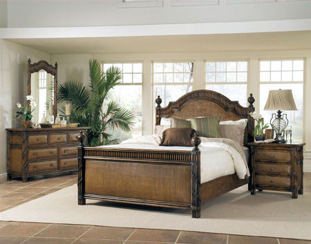black rattan bedroom furniture photo - 2