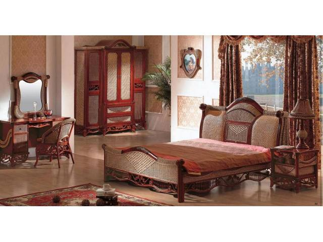 black rattan bedroom furniture photo - 5