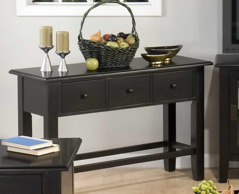 black sofa table ikea photo - 6