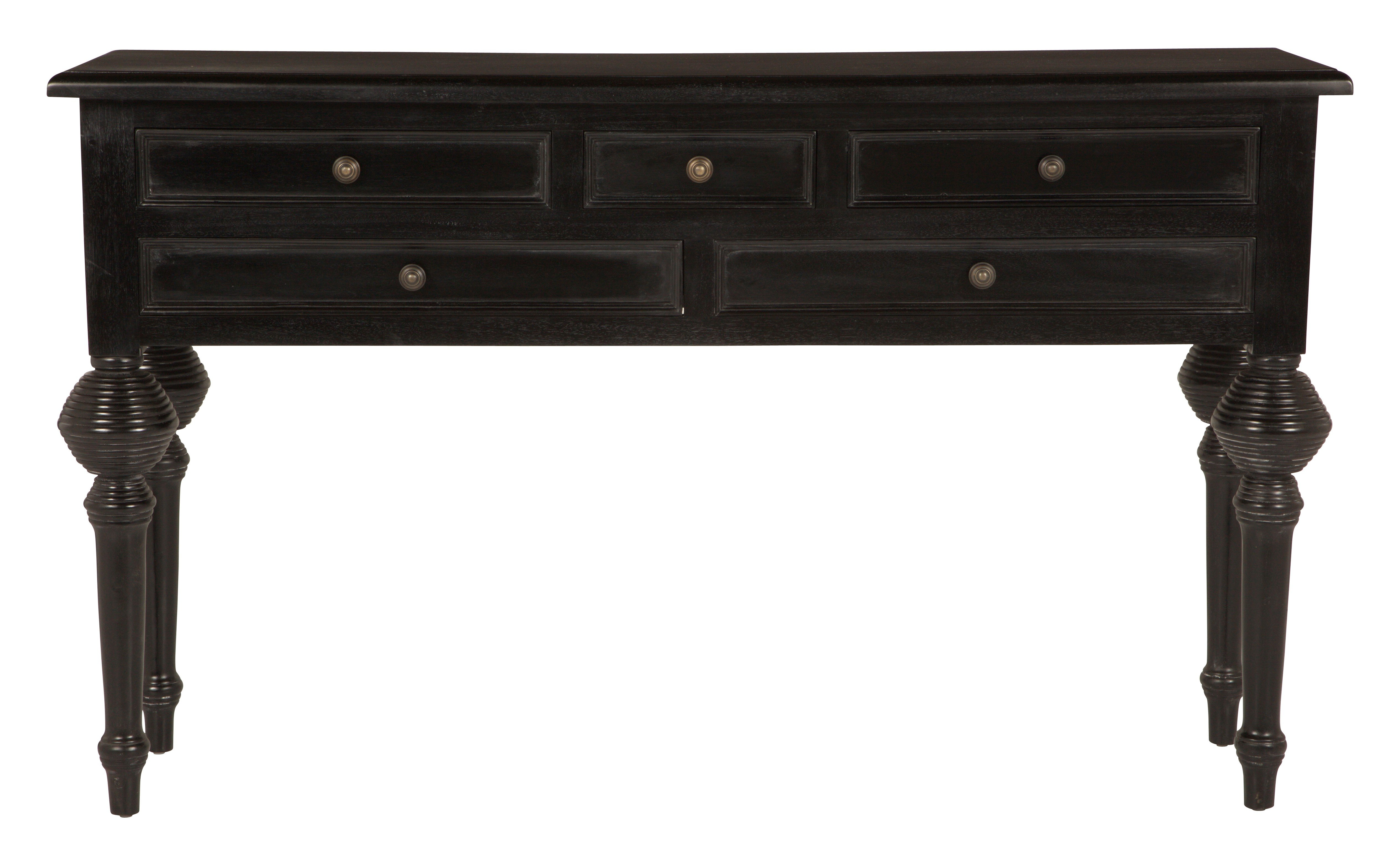 black sofa table with drawers photo - 6