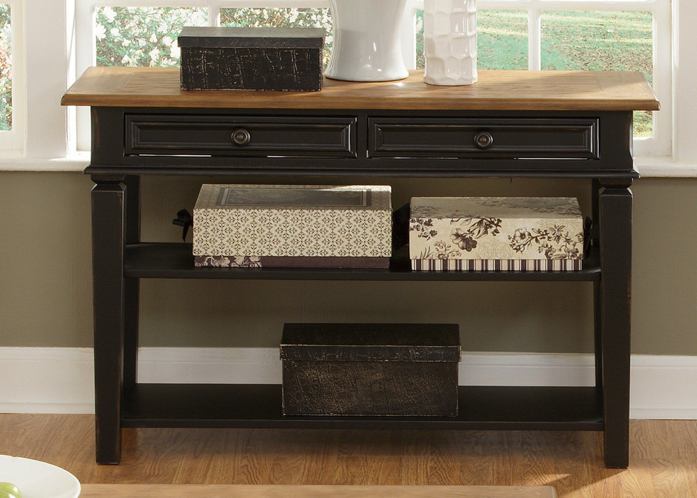 black sofa table with storage photo - 6