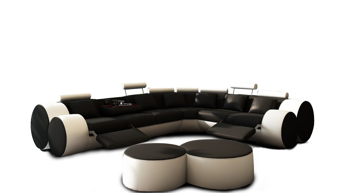 black sofa white coffee table photo - 1
