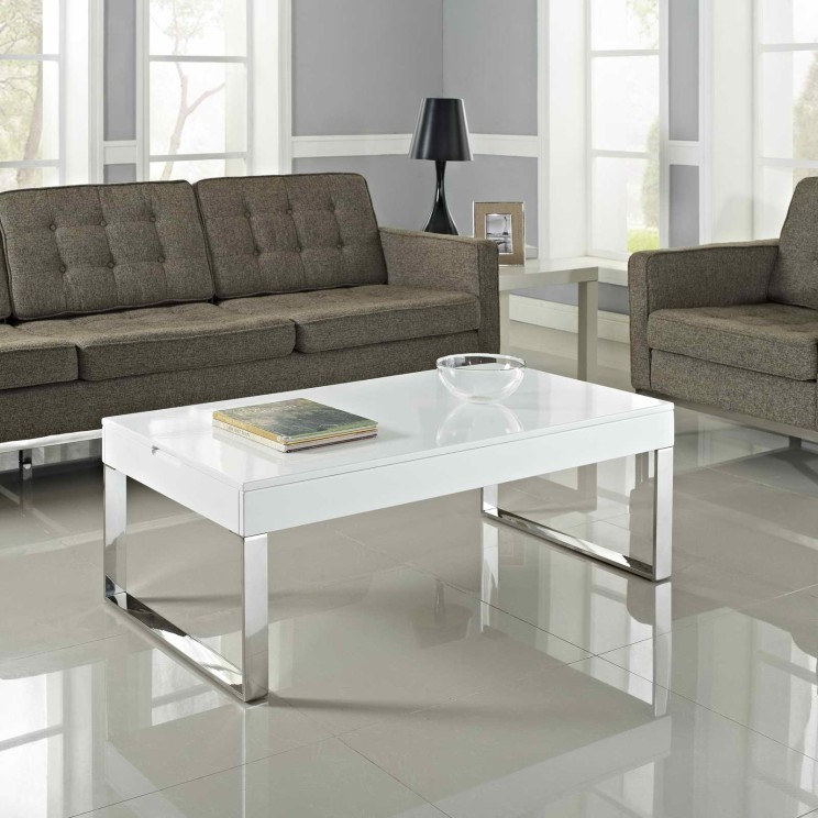 black sofa white coffee table photo - 5