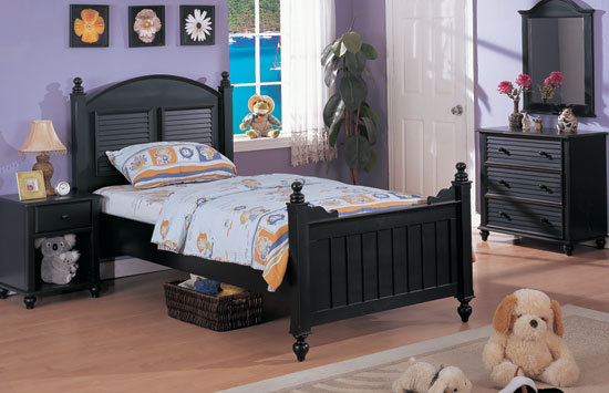 Black Wood Bedroom Furniture bedroom sets lauran black twin size bedroom set newlotsfurniture