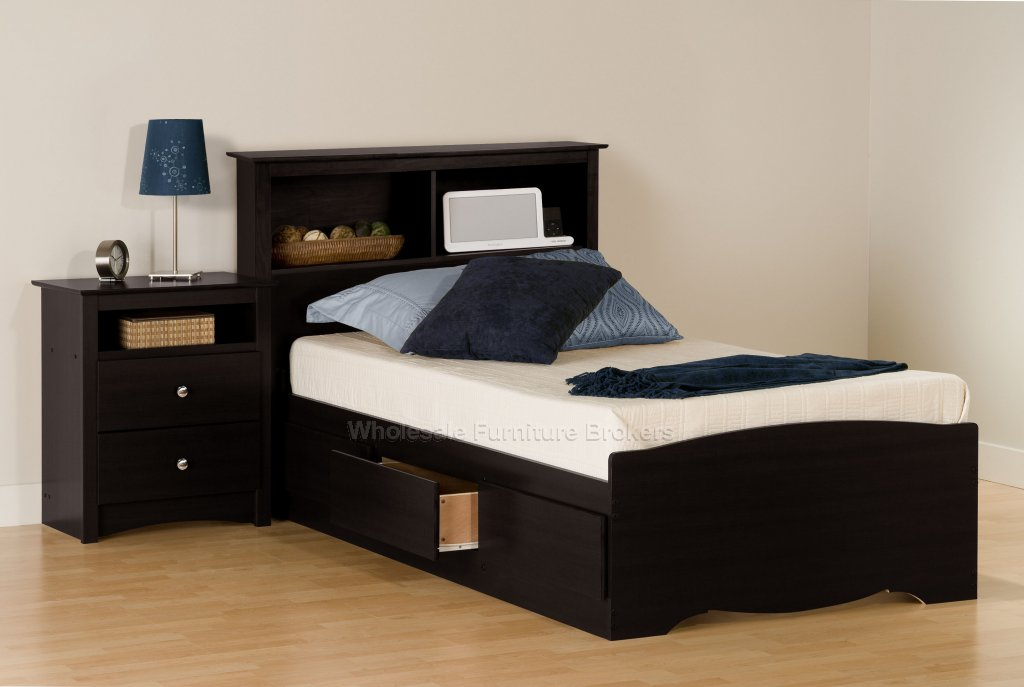 black twin bedroom furniture sets photo - 4