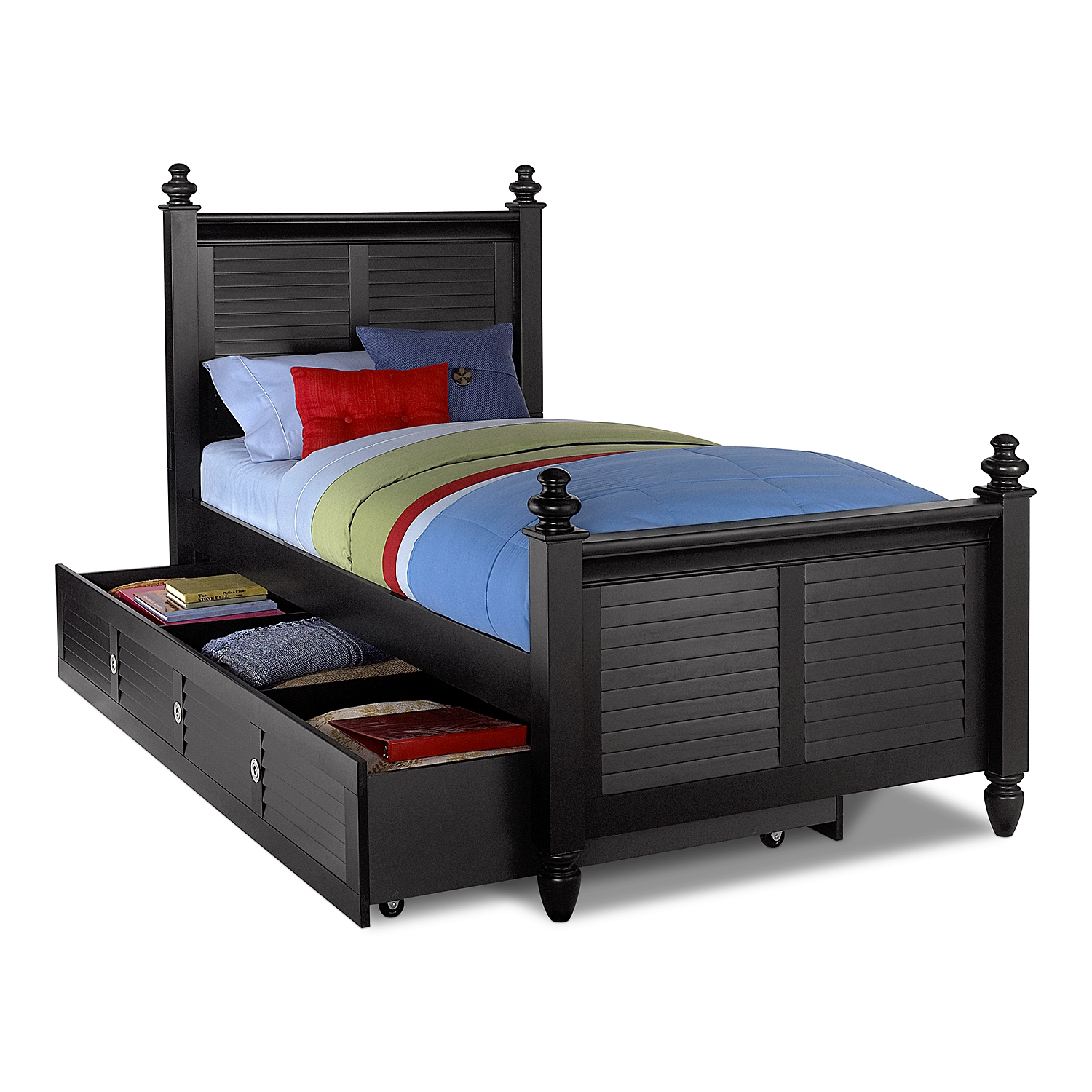 black twin beds for kids photo - 2