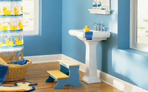 blue and green kids bathroom ideas photo - 1
