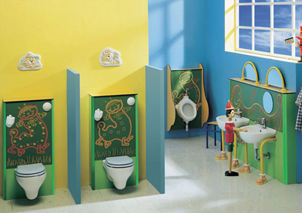 blue and green kids bathroom ideas photo - 3