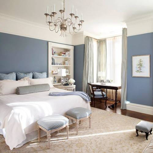 blue and white bedroom decorating ideas photo - 6