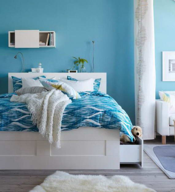blue and white bedroom design ideas photo - 1