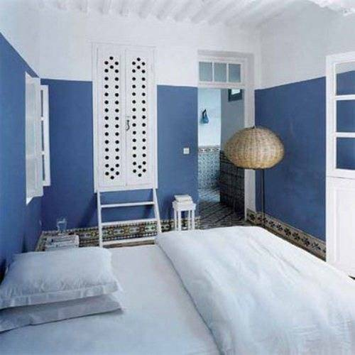 blue and white bedroom design ideas photo - 2