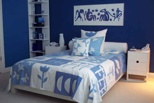 blue and white bedroom design ideas photo - 4